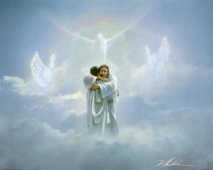 jesus-hugging-man-in-heaven-clouds-god-hands